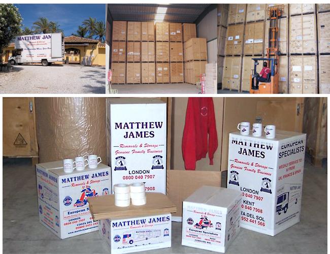 Furniture storage in Spain