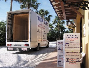 Removals from Spain to UK / England