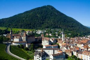 swiss village alps