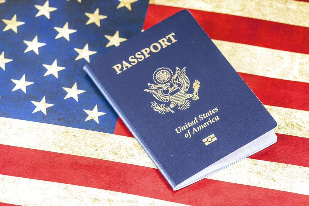 USA Passport Visa Flag